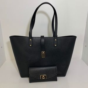 Michael Kors Black Tote With Matching Wallet